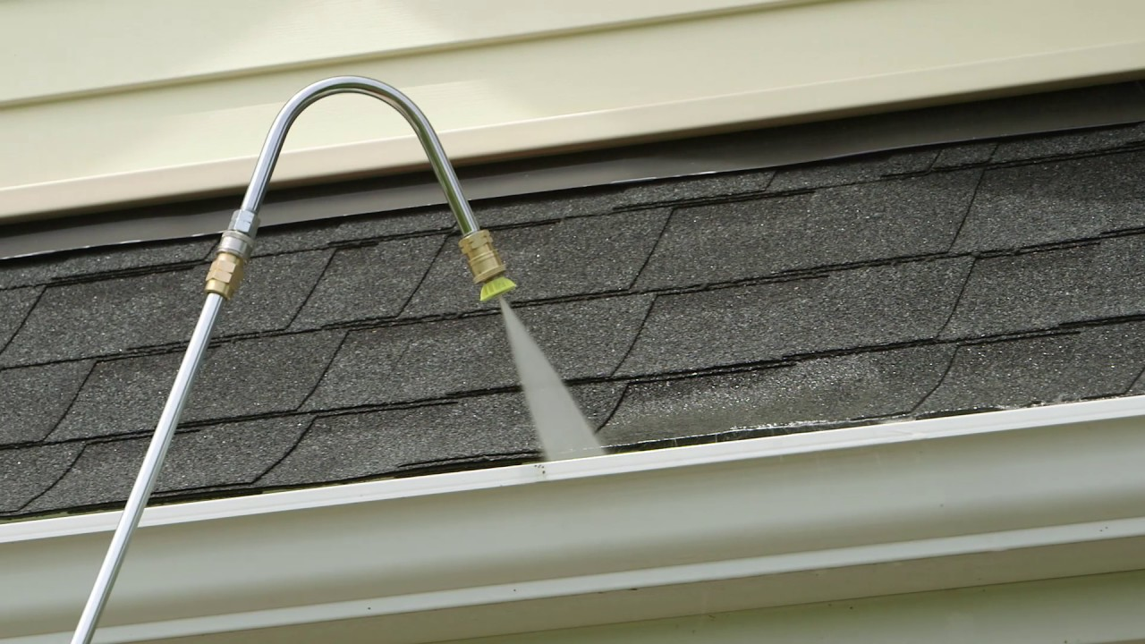 pressure washing gutters